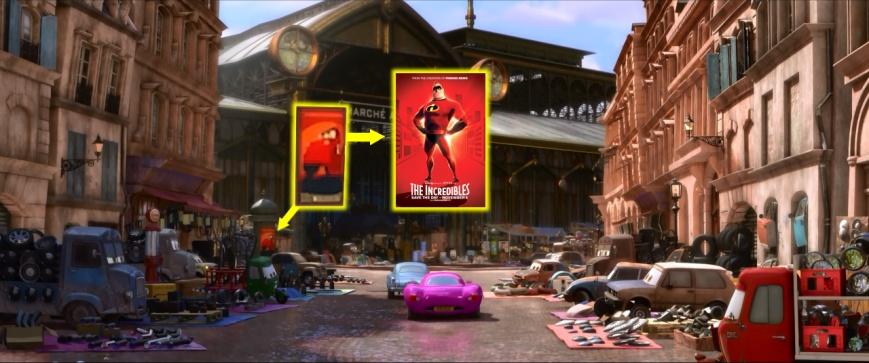 Cars 2 - Los Increimóviles Poster (Los Increíbles)