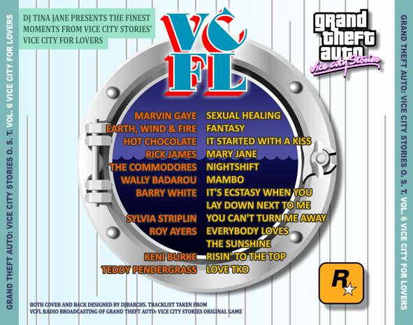 Contraportada de Vice City For Lovers de GTA VCS por DJBarchs