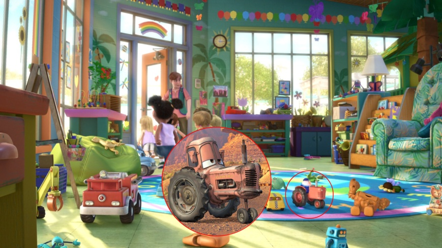 Toy Story 3 - Vaca Tractor (Cars)