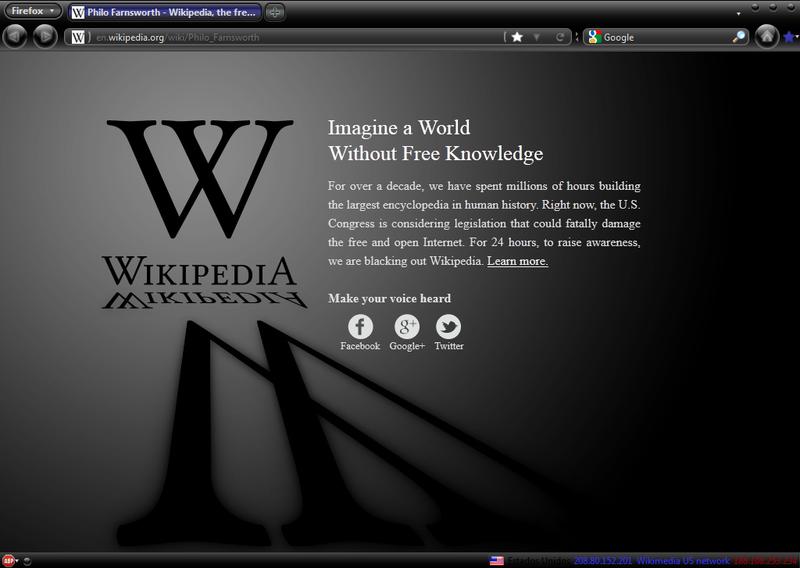 Wikipedia Protesta ante SOPA