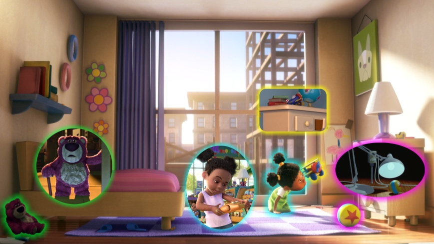 Up - Juguetes y Niña (Luxo Jr., Toy Story, Toy Story 3)