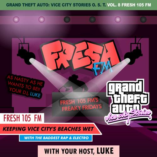 Portada de Fresh 105 FM de GTA Vice City Stories por DJBarchs