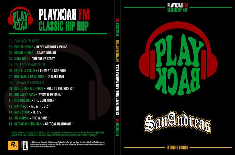 Digipack de PlayBack FM de GTA: San Andreas por DJBarchs