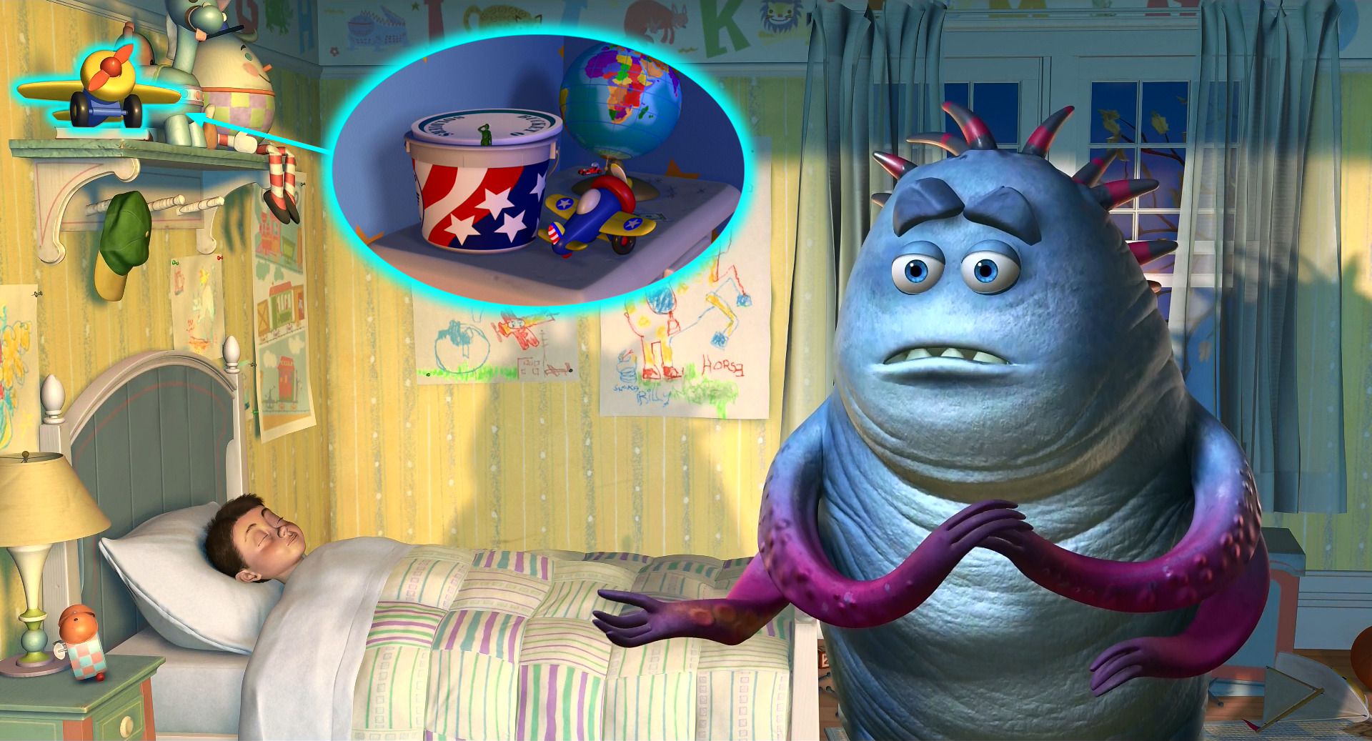 Cameos pixar en monsters inc y monsters university djbarchs monsters inc avioncito voltagebd Image collections