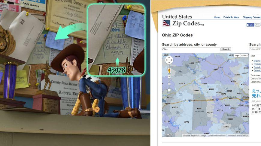 Toy Story 3 - Dirección Carl y Ellie